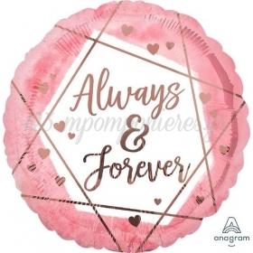 ΜΠΑΛΟΝΙ FOIL 18''(45cm) ALWAYS & FOREVER - ΚΩΔ:541767-BB