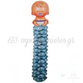 Στηλη Μπαλονιων Baby Boy 2M - ΚΩΔ:15917-Bb
