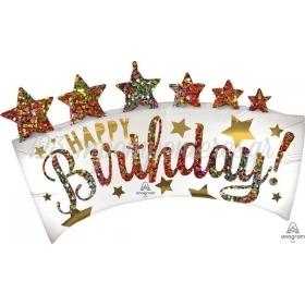 ΜΠΑΛΟΝΙ FOIL 88X60cm BANNER HAPPY BIRTHDAY - ΚΩΔ:541810-BB