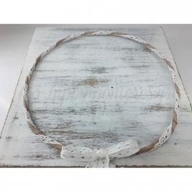 Στεφανα Γαμου Σετ 2 Τεμ Λινα Με Λευκη Δαντελα - ΚΩΔ:St3-Set-Rn