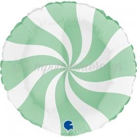 ΜΠΑΛΟΝΙ FOIL 18''(46cm) LOLLIPOP ΛΕΥΚΟ-ΠΡΑΣΙΝΟ - ΚΩΔ:G018M01WHGR-BB
