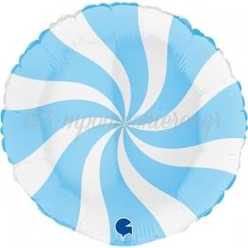 ΜΠΑΛΟΝΙ FOIL 18''(46cm) LOLLIPOP ΛΕΥΚΟ-ΜΠΛΕ - ΚΩΔ:G018M00WHB-BB