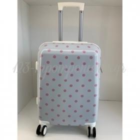 Βαλιτσα Λευκη Με Ροζ Πουα - ΚΩΔ:Bal5A-Rn