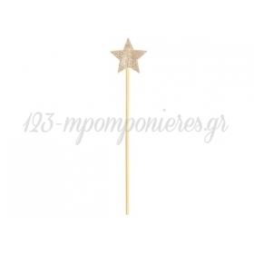 Ραβδι Αστερακι Χρυσο 36X8.5Cm - ΚΩΔ:Std2-019-Bb