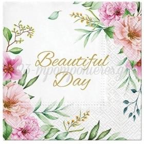 Χαρτοπετσετες Beautiful Day Floral 33Cm - ΚΩΔ:Sdl127700-Bb