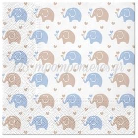 Χαρτοπετσετες Baby Elephant Blue 33Cm - ΚΩΔ:Sdl125605-Bb