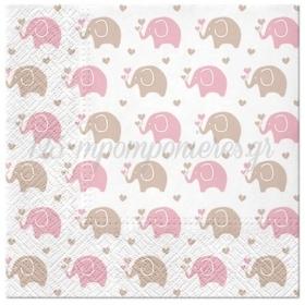 ΧΑΡΤΟΠΕΤΣΕΤΕΣ BABY ELEPHANT PINK 33cm - ΚΩΔ:SDL125604-BB