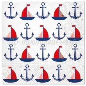 Χαρτοπετσετες Ships And Anchors 33Cm - ΚΩΔ:Sdl123600-Bb
