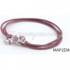Ελαστικο Σωμον Βραχιολι Με Τετραγωνες Χαντρες - ΚΩΔ:Mar2Sm-Rn