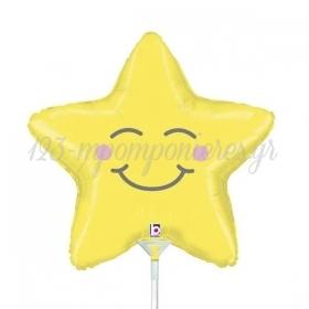 """ΜΠΑΛΟΝΙ FOIL 14""""(35cm) MINI SHAPE CHUBBY STAR - ΚΩΔ:19288-BB"""
