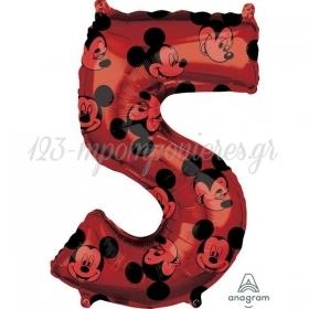 Μπαλονι Foil 45X66Cm Mickey Mouse Αριθμος 5 - ΚΩΔ:540135-Bb