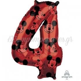 Μπαλονι Foil 45X66Cm Mickey Mouse Αριθμος 4 - ΚΩΔ:540134-Bb