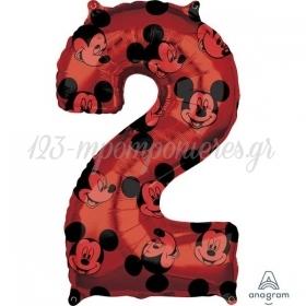 Μπαλονι Foil 45X66Cm Mickey Mouse Αριθμος 2 - ΚΩΔ:540132-Bb