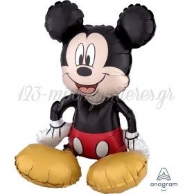 Μπαλονι Foil 45X45Cm Super Shape Καθιστος Mickey Mouse - ΚΩΔ:538185-Bb