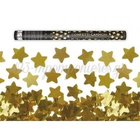 Κανονακι Κομφετι Με Χρυσα Αστερια 60Cm - ΚΩΔ:Tukst60-019-Bb