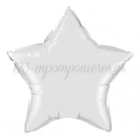 ΜΠΑΛΟΝΙ FOIL 18''(45cm) ΛΕΥΚΟ ΑΣΤΕΡΙ - ΚΩΔ:206327-BB