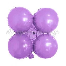 """Μπαλονι Foil Για Γιρλαντα 16""""(40Cm) Ανοιχτο Λιλα - ΚΩΔ:206096-Bb"""