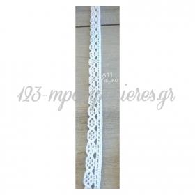 Κορδελα Βαμβακερη Δαντελα - Λευκο - 8Μμ Χ 9,14Μ - ΚΩΔ:A11-Rn