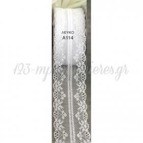 Κορδελα Δαντελα Λευκη 4,5Cm X 18,28M -ΚΩΔ:A114-Rn