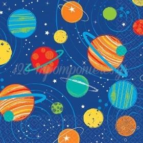 Χαρτοπετσετες Μικρες Διαστημα 25Χ25Cm - ΚΩΔ:502278-Bb
