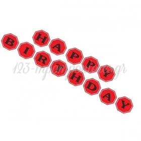 Διακοσμητικα Σημαιακια Under Construction Happy Birthday - ΚΩΔ:P25965-21-1-Bb