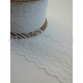Λευκη Δαντελα Που Σχιζεται Και Στην Μεση 4.5Cmx18.28M - ΚΩΔ:A1-Rn