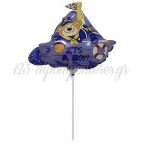 """Μπαλονι Foil 14''(36Cm) Mini Shape Navy """"It'S A Boy"""" - ΚΩΔ:206329-Bb"""
