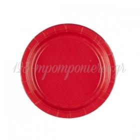 Χαρτινα Πιατα Γλυκου Κοκκινα 18Cm - ΚΩΔ:Gj-T7Cw-Bb