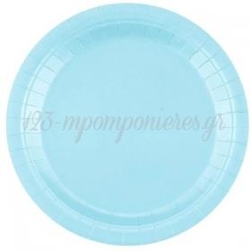 Χαρτινα Πιατα Γλυκου Ανοιχτο Γαλαζιο 18Cm - ΚΩΔ:Gj-T7Nj-Bb