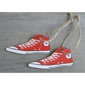 Ξυλινο Διακοσμητικο All Star Κοκκινο - ΚΩΔ:T73K-Rn