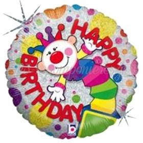 ΛΑΜΠΕΡΟ ΜΠΑΛΟΝΙ FOIL ΓΕΝΕΘΛΙΩΝ «Happy Birthday» ΚΛΟΟΥΝ 45cm – ΚΩΔ.:86435Ρ-BB