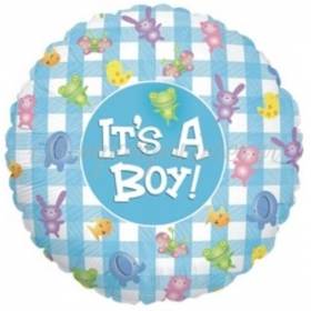 Μπαλονι Foil 45Cm Για Γεννηση «It'S A Βου» Καρω Με Γλυκα – ΚΩΔ.:86057Ρ-Bb