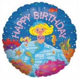 ΜΠΑΛΟΝΙ FOIL ΓΕΝΕΘΛΙΩΝ «Happy Birthday» ΜΕ ΜΙΚΡΗ ΓΟΡΓΟΝΑ 45cm – ΚΩΔ.:86168Ρ-BB