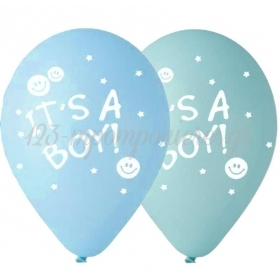 ΓΑΛΑΖΙΑ-ΒΕΡΑΜΑΝ ΜΠΑΛΟΝΙΑ «It's a boy» 12'' (30cm) – ΚΩΔ.:13512140ΙΒ-BB
