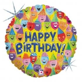 ΜΠΑΛΟΝΙ FOIL ΓΕΝΕΘΛΙΩΝ «HAPPY BIRTHDAY» ΦΑΤΣΟΥΛΕΣ ΜΕ ΚΑΠΕΛΑ 45cm – ΚΩΔ.:86343Ρ-BB