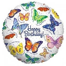 ΜΠΑΛΟΝΙ FOIL ΓΕΝΕΘΛΙΩΝ «Happy Birthday» ΜΕ ΟΜΟΡΦΕΣ ΠΕΤΑΛΟΥΔΕΣ 45cm – ΚΩΔ.:16415Ρ-BB