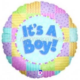 Μπαλονι Foil 45Cm Για Γεννηση «It'S A Boy» Παστελ Χρωματα Holographic – ΚΩΔ.:86606Ρ-Bb