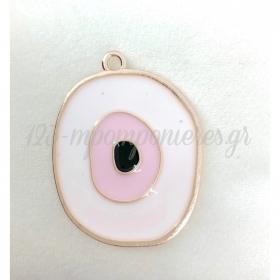 Μεταλλικο Ροζ Ματι Με Χρυσο Περιγραμμα - ΚΩΔ:M94-Rn