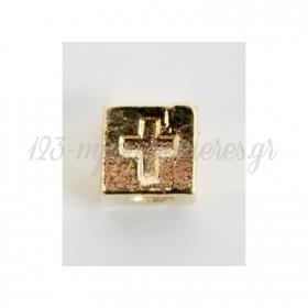 Χρυσο Μεταλλικο Σταυρουδακι Κυβος - ΚΩΔ:M64-Rn