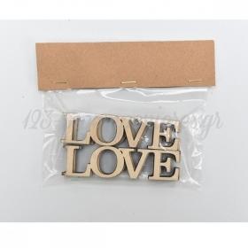 Lasercut Γραμματα Love 9X5Cm - ΚΩΔ:5003703-Rd
