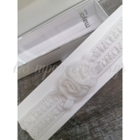 Κορδελα Μαλλιων Παιδικη Λευκη Δαντελα Με Λουλουδια - ΚΩΔ:9267-L-May