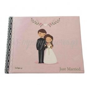 """Βιβλιο Ευχων Ζευγαρι """"Just Married"""" - ΚΩΔ:860Bdcl30B-3-Bb"""