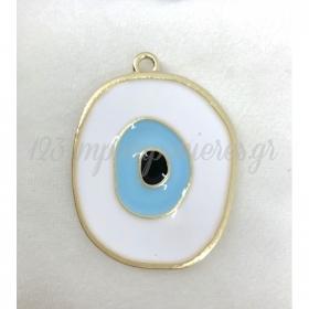Μεταλλικο Σιελ Ματι Με Χρυσο Περιγραμμα - ΚΩΔ:M95-Rn