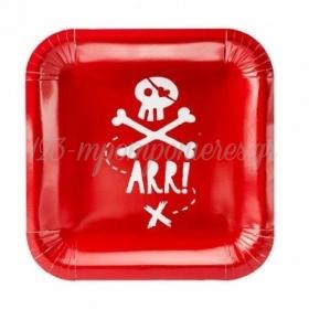 Χαρτινα Κοκκινα Πιατα Πειρατες 20Cm - ΚΩΔ:Tpp15-007-Bb