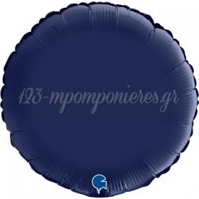 """ΜΠΑΛΟΝΙ FOIL 18""""(45cm) ΣΤΡΟΓΓΥΛΟ NAVY ΜΠΛΕ - ΚΩΔ:181S02BN-BB"""