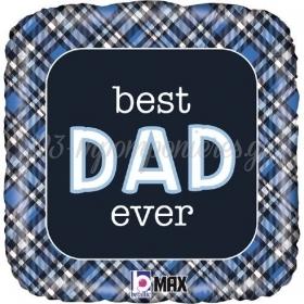 """ΜΠΑΛΟΝΙ FOIL 18""""(45cm) ΤΕΤΡΑΓΩΝΟ BEST DAD EVER ΚΑΡΟ - ΚΩΔ:26098P-BB"""