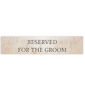 """ΠΙΝΑΚΙΔΑ ΑΥΤΟΚΙΝΗΤΟΥ ΓΑΜΟΥ """"RESERVED FOR THE GROOM"""" 52X11cm - ΚΩΔ:553131-39-BB"""