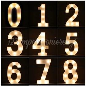 ΑΡΙΘΜΟΣ 0 ΜΕ LED ΦΩΣ 21.5X13cm - ΚΩΔ:535B9090-BB