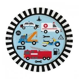 ΧΑΡΤΙΝΑ ΠΙΑΤΑ ΠΑΡΤΥ ON THE ROAD 22.8cm - ΚΩΔ:9906579-BB