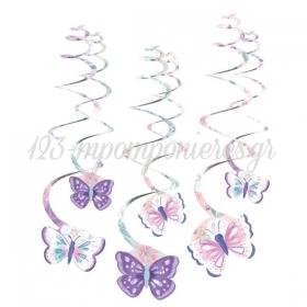 Διακοσμητικα Οροφης Swirl Πεταλουδες 61Cm - ΚΩΔ:9909728-Bb